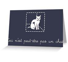 Le Chat de Schrödinger Greeting Card