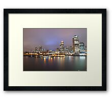 Downtown Vancouver at Night from Canada Place Framed Print