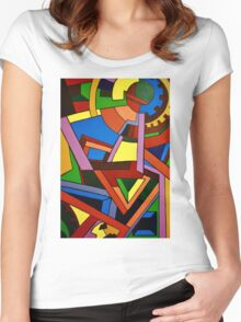 Geo Women's Fitted Scoop T-Shirt