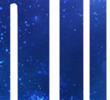 Blue Galaxy Police Box Sticker