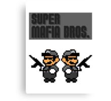 Super Mafia Bros  Canvas Print
