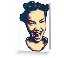 Björk Greeting Card