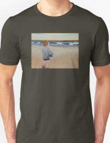 Boy on the beach Unisex T-Shirt