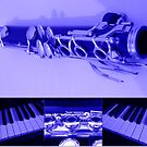 Kind Of Blue Musical Collage by kathrynsgallery