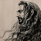 Thorin watching the lonely mountain by evankart
