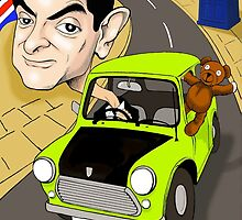 MR BEAN & DR WHO IPHONE CASE by David Lumley