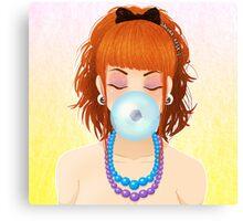 Cheveux Rouge Canvas Print