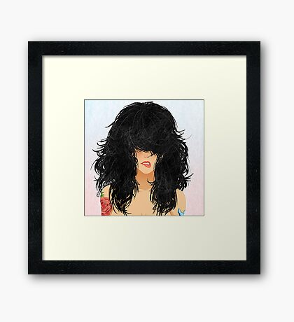 Cheveux Noirs Framed Print
