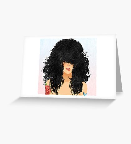 Cheveux Noirs Greeting Card