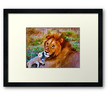 Lion & Lamb—Todd Gessele Copyright 2013 Framed Print