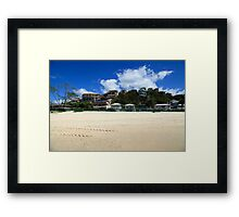 Beach Houses Currumbin Framed Print