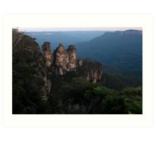 Blue Mountains - The Three Sisters View01 Art Print