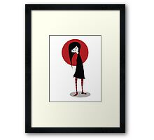 Mia on White Framed Print