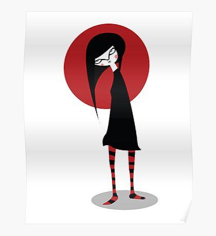 Mia on White Poster