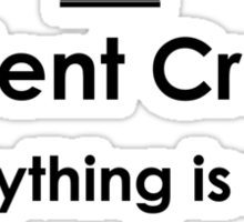 Student Creed (Black) Sticker