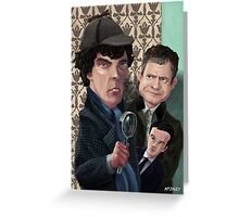 Sherlock Homes Watson and Moriarty at 221B Greeting Card