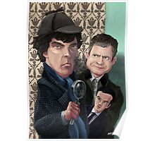 Sherlock Homes Watson and Moriarty at 221B Poster