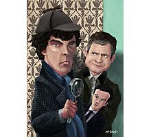 Sherlock Homes Watson and Moriarty at 221B Photographic Print