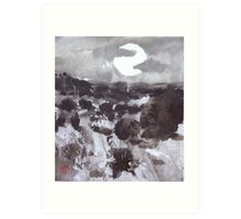 Moon Over New Mexico Art Print