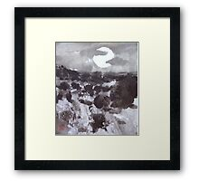 Moon Over New Mexico Framed Print
