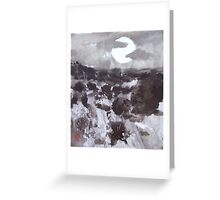 Moon Over New Mexico Greeting Card