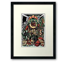 Zombie Star Farter Pilot Framed Print