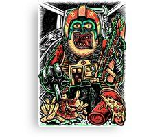 Zombie Star Farter Pilot Canvas Print
