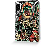 Zombie Star Farter Pilot Greeting Card