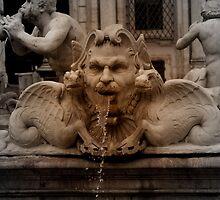 Detalle, fuente de plaza  Navona. Roma.....Bella Italia. by cieloverde