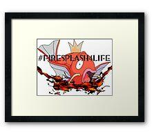 #FireSplash4Life Framed Print