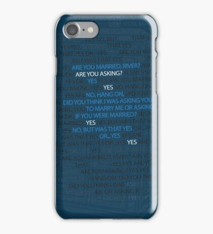 River's marriage proposal iPhone Case/Skin