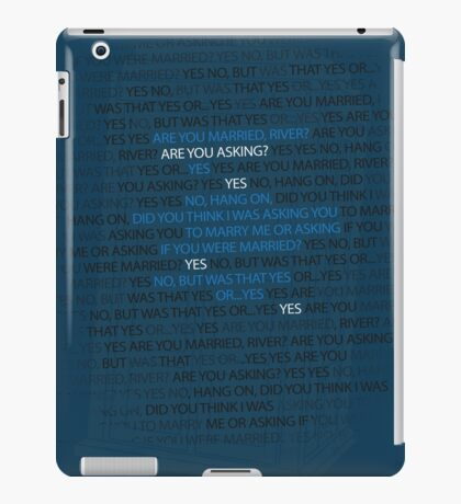 River's marriage proposal iPad Case/Skin