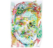 ERNEST HEMINGWAY watercolor portrait.3 Poster