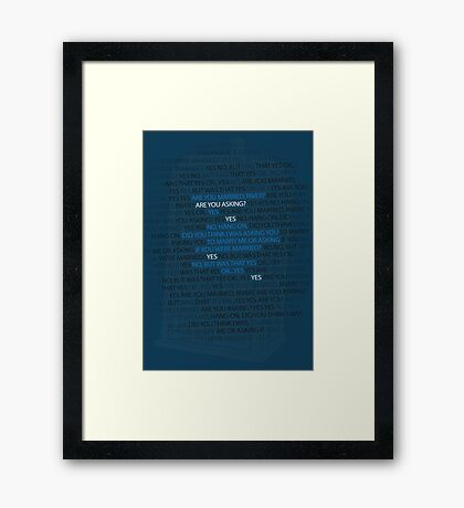 River's marriage proposal Framed Print