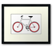 City Velo Fixé - On White Framed Print