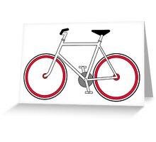 City Velo Fixé - On White Greeting Card