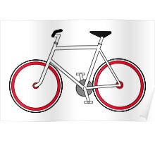 City Velo Fixé - On White Poster