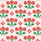 Red Flowers Pattern by Rainink