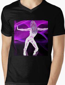 Virtual Girl Mens V-Neck T-Shirt