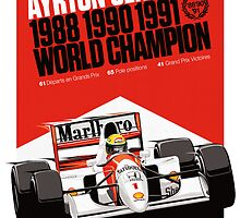 Ayrton Senna - World Champion by jbruntondesign