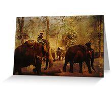 Elephants Learning Greeting Card