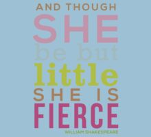 Though She be but Little - Shakespeare QUOTE Kids Tee