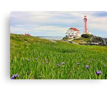 Cape Forchu Lighthouse in June Canvas Print
