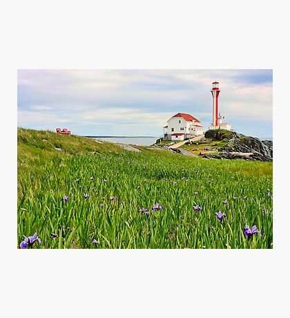 Cape Forchu Lighthouse in June Photographic Print
