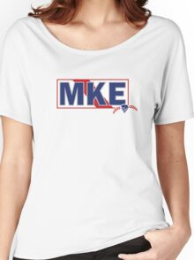 Milwaukee PBR Mashup | Pabst Blue Ribbon Women's Relaxed Fit T-Shirt