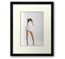 White dress Framed Print