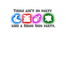 Ain't no party like a Chaos God Party! Photographic Print