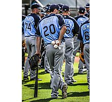 Players of the Tampa Bay Rays Florida Photographic Print