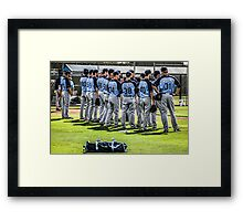 Players of the Tampa Bay Rays Florida Framed Print