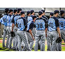Players of the Tampa Bay Rays in Florida Photographic Print